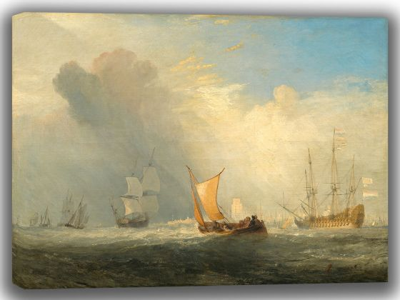 Turner, Joseph Mallord William: Rotterdam Ferry-Boat. Fine Art Canvas. Sizes: A4/A3/A2/A1 (003541)